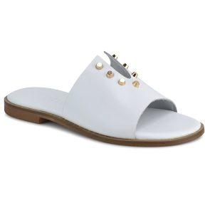 Δερμάτινo λευκό σανδάλι Fratelli Robinson 6246