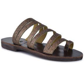 Δερμάτινη μπρονζέ σαγιονάρα Iris Sandals IR9/14
